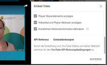 Screenshot Youtube-Einbettung