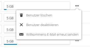 Bildschirmdialog Nutzer entfernen